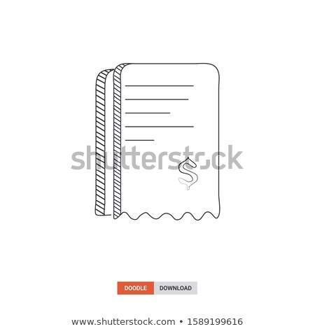 Paperwork Documents Line Art Icons in Sketch Style Stock photo © robuart