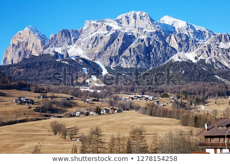 Cortina d'Ampezzo city at daylight Stock photo © frimufilms