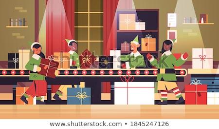 Рождества праздник подготовка торговых процесс вектора Сток-фото © robuart