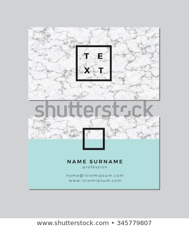 Creative мрамор текстуры визитной карточкой дизайна бизнеса Сток-фото © SArts