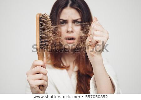 Cabelo perda problema escove perdido isolado Foto stock © szefei