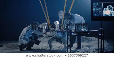 Három űr nulla gravitáció pop art retro Stock fotó © studiostoks