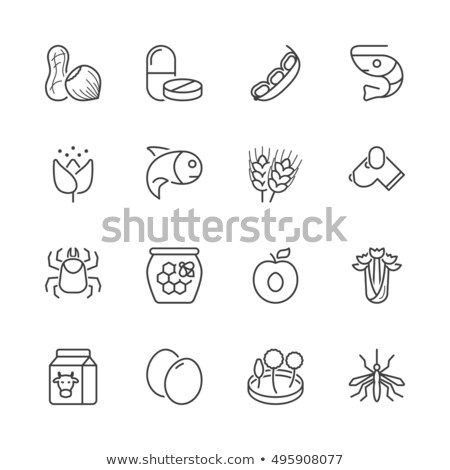 Allergy on Seafood, Isolated Icon of Allergen Stock photo © robuart