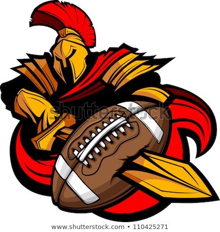 Spartan Trojan American Football Sports Mascot Stock photo © Krisdog