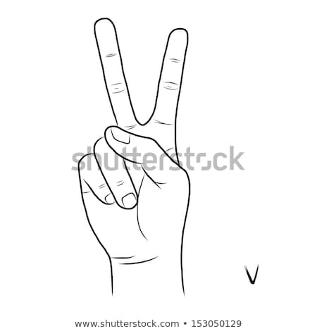 hand demonstrating, 'V' in the alphabet of signs  Stock photo © vladacanon
