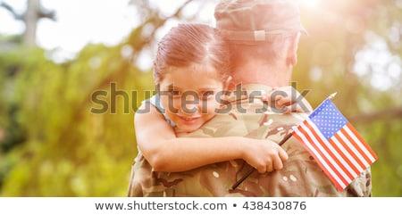 hazafias · ünnep · boldog · család · szülők · gyerekek · lányok - stock fotó © choreograph