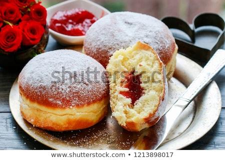 自家製 ドーナツ バラ ジャム 甘い ストックフォト © furmanphoto