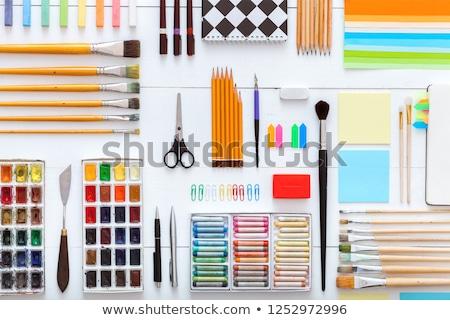 workplace supplies set stock photo © jossdiim