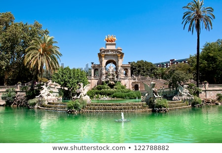 Park LA híres helyszín Barcelona Spanyolország Stock fotó © neirfy
