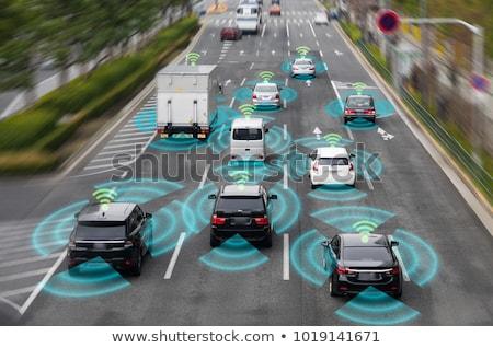 Autonomous car driving on road Stock photo © jossdiim