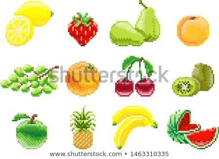 Grapes Bunch Pixel Art 8 Bit Video Game Fruit Icon Stock photo © Krisdog