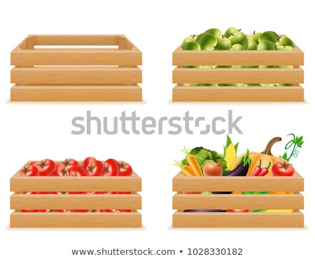 Harvesting Products, Vegetables in Case Vector Stock photo © robuart