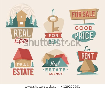 Vintage real estate agency emblems Stock photo © netkov1