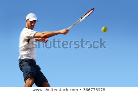 Male tennis player in action stock photo © nyul