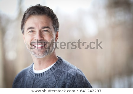 men outdoors close to 50s in forest Stock photo © Lopolo