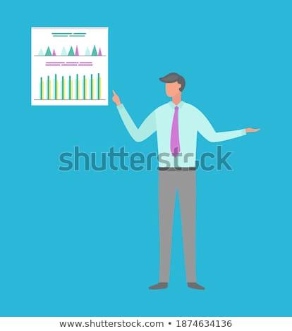 Infografiken Charts info Vektor isoliert Stock foto © robuart