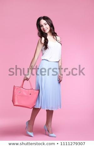 Bolsa mulher menina cara Foto stock © Lopolo