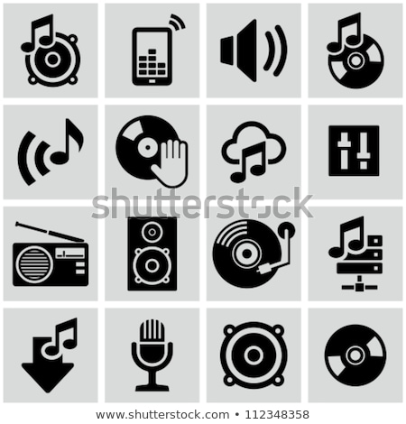 Radio Icon, Black Media Symbol, Speaker Vector Stock photo © robuart