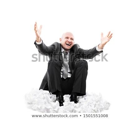 Głośno krzyczeć zmęczony biznesmen Zdjęcia stock © ia_64