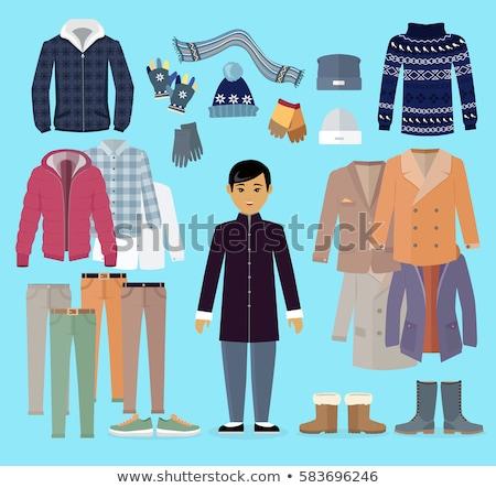 flat type blue clothing boy_icon Stock photo © toyotoyo