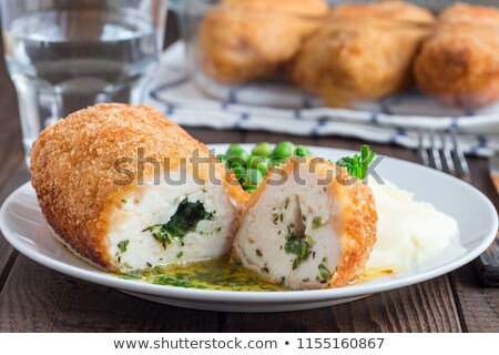 chicken kiev cutlet stock photo © olegtoka