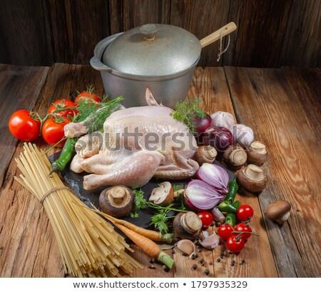 生 ヌードル 麺 鶏 食品 卵 ストックフォト © tycoon