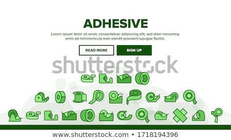 Adhesive Tape Stationery Equipment Color Vector Stock photo © pikepicture