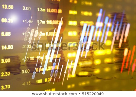 Infochart Stats on Business Project, Instruments Stock photo © robuart