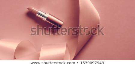 Luxo batom seda fita rosa Foto stock © Anneleven