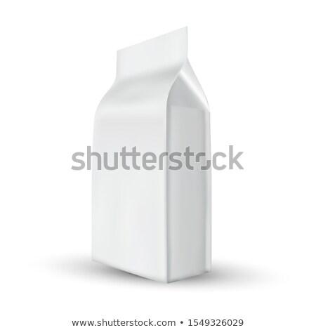 Worek przechowywania kawy produktu wektora soli Zdjęcia stock © pikepicture