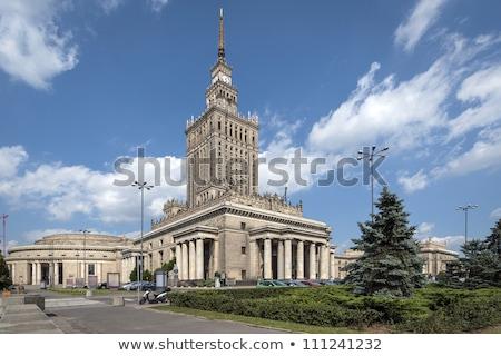 город · Варшава · Польша · Cityscape · закат · дворец - Сток-фото © ruslanshramko