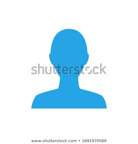 Blauw mannelijke geslacht icon vrouwelijke schaduw Stockfoto © AndreyPopov