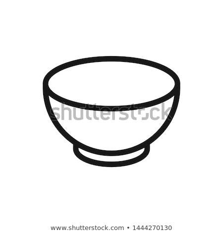 Bowl or Soup Plate, Ceramic Dishware, Pot Vector Stock photo © robuart