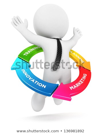 3d small people - in flowchart Stock photo © AnatolyM