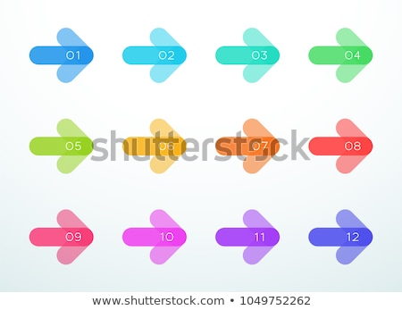 Ingesteld bullet punten twaalf teken Stockfoto © SArts