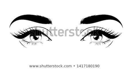 Beautiful makeup illustration with woman's eyes Stock photo © Zsuskaa