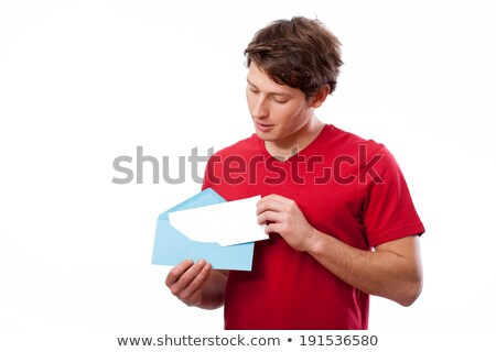 Man Putting Envelope In Mailbox Stock photo © AndreyPopov