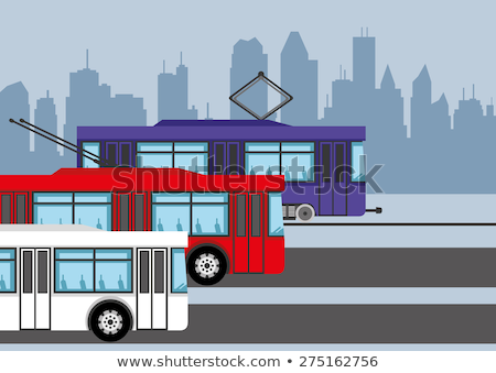 Public Transport Trolley Bus Vector Sign Icon Stock photo © pikepicture