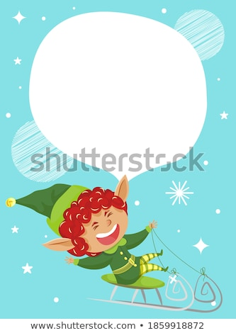Finał christmas sprzedaży wakacje zniżka elf Zdjęcia stock © robuart