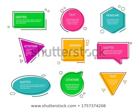 quotes template set in dots line style Stock photo © SArts