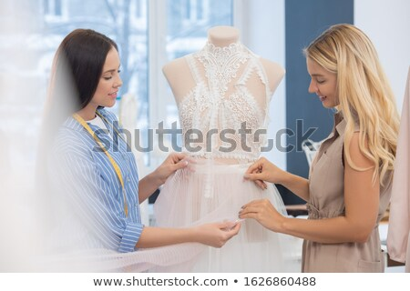 Matching fabric for wedding dress Stock photo © pressmaster