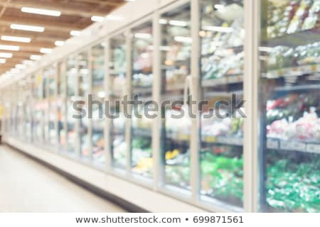 Dairy Products, Cooler Fridge at Supermarket, Sale Stock photo © robuart
