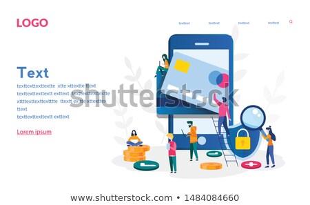 Vektor szalag alkalmazás telefon kéz illusztráció Stock fotó © karetniy