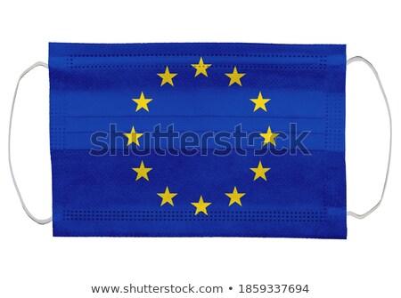 флаг Евросоюз вирус белый изолированный 3d иллюстрации Сток-фото © ISerg