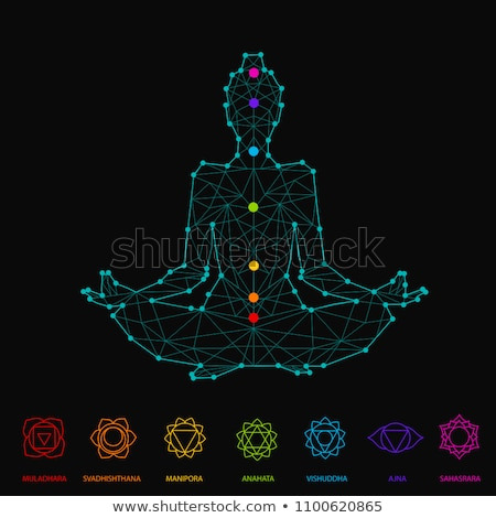 set of icons with chakras  emotions Stock photo © Olena