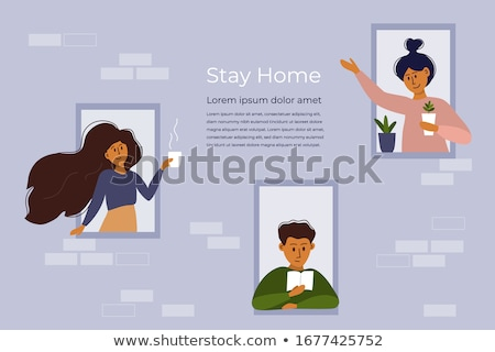stay at home due to coronavirus concept Stock photo © neirfy