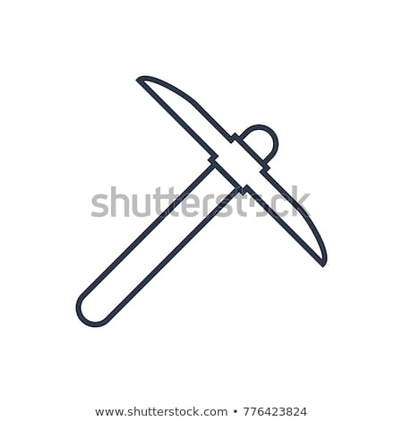 miner with pickaxe icon vector outline illustration Stock photo © pikepicture