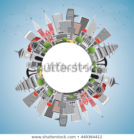 Ho Chi Minh Skyline with Gray Buildings and Copy Space.  Stock photo © ShustrikS