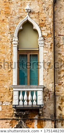 Traditional widow on building in Venice, Italy Stock photo © boggy