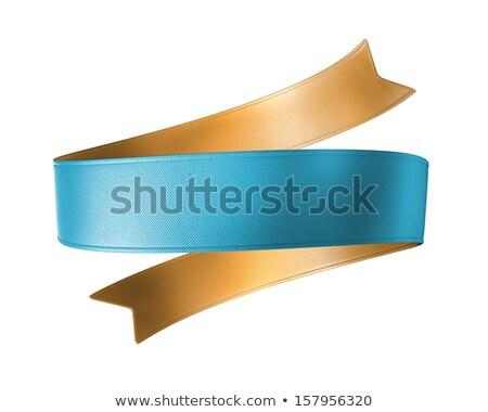 White classic blank ribbon tag label 3D Stock photo © djmilic